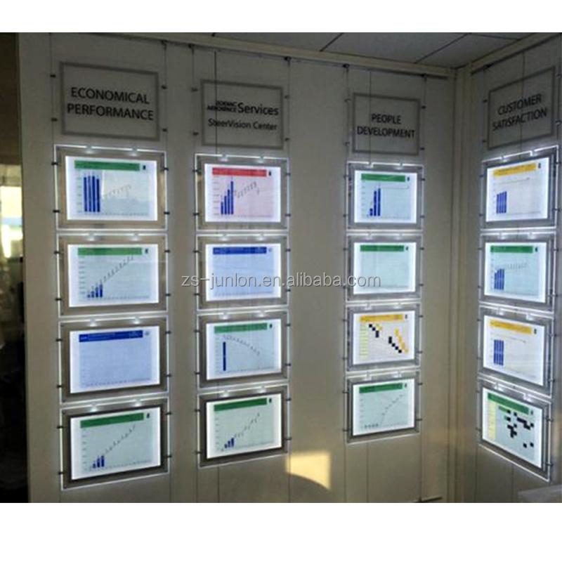 2020  Real Estate Agents LED Light Pockets LED Window Display