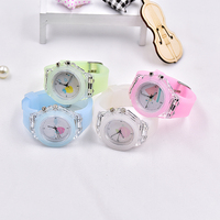 made-in-china cheap children watch Colorful Band Watch Silicone Band analog pointer quartz movement multicolor band
