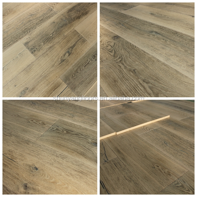 Chemical treated aged oiled oak wood flooring