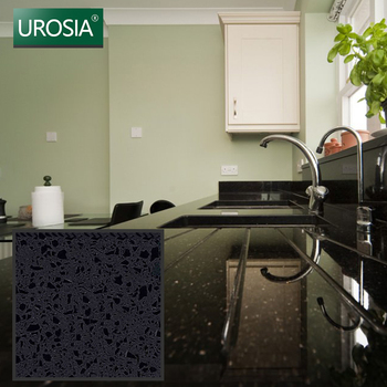 super black onyx sparkle quartz stone slab solid surface cheap black color artificial quartz stone slabs kitchen countertop