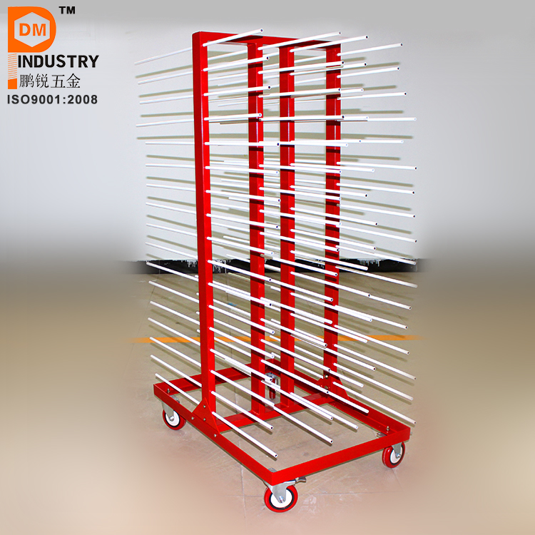 girl drying doors rack paint for cabinet sawdust mobile