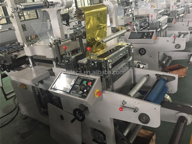 UTM420B automática de rollo a rollo de hoja de la etiqueta adhesiva de la máquina de corte
