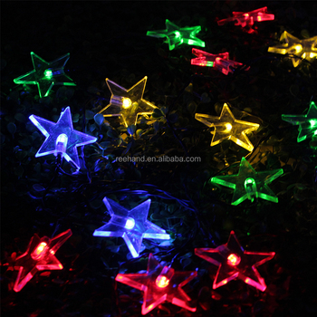Christmas Decorative Solar String Lights Star Shaped Led Light
