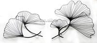 Modern design metal flower wall art sculpture Concise design iron lotus leaf sculpture for wall decoration