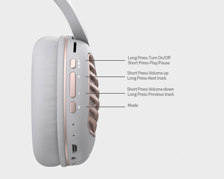 2019 Foldable no brand cheap bulk metal headphones with cable