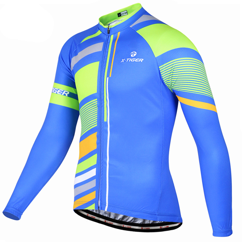 X-TIGER Long Sleeve Autumn Pro Cycling Jersey Mountain Bike Clothing Bicycle Clothes Maillot Ciclismo Cycling Clothing фото
