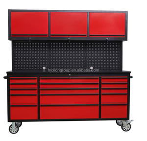 Movable customized garage tool chest metal workbench