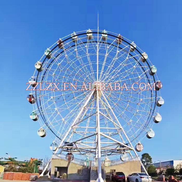 Outdoor amusement park rides Playground game Carnival machine 30m 42m 50m 60m 65m 72m 88m ferris wheel for sale