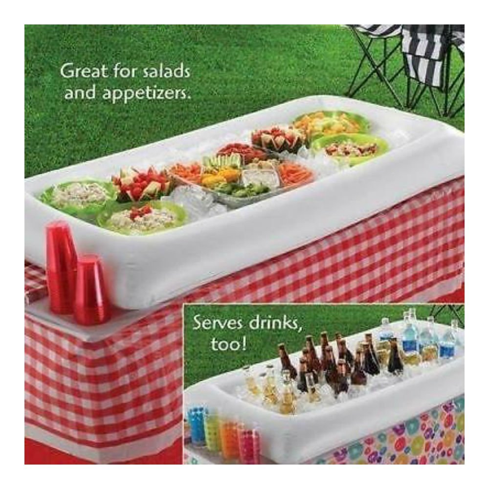 Buy Inflatable Serving Bar Salad Buffet Ice Cooler Picnic Drink - Inflatable picnic table