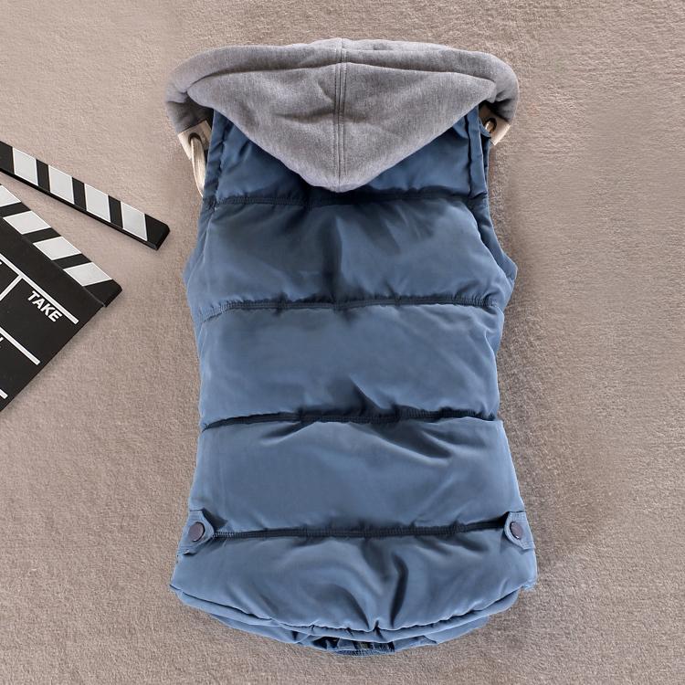 Женщины жилет Большой размер 6XL зимний пуховик хлопок-ватник куртку для пара тонкий тепловой снег плис с капюшоном