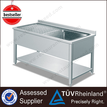 Fabricated Single/Double Restaurant Stainless Steel Trough Sink