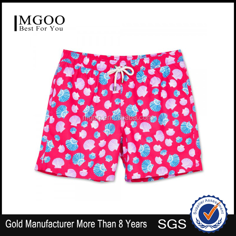 MGOO 2016 Hot Selling Mens Waterproof Swimwear Beachwear Custom Funny Beachwear China Swimwear Manufacturer