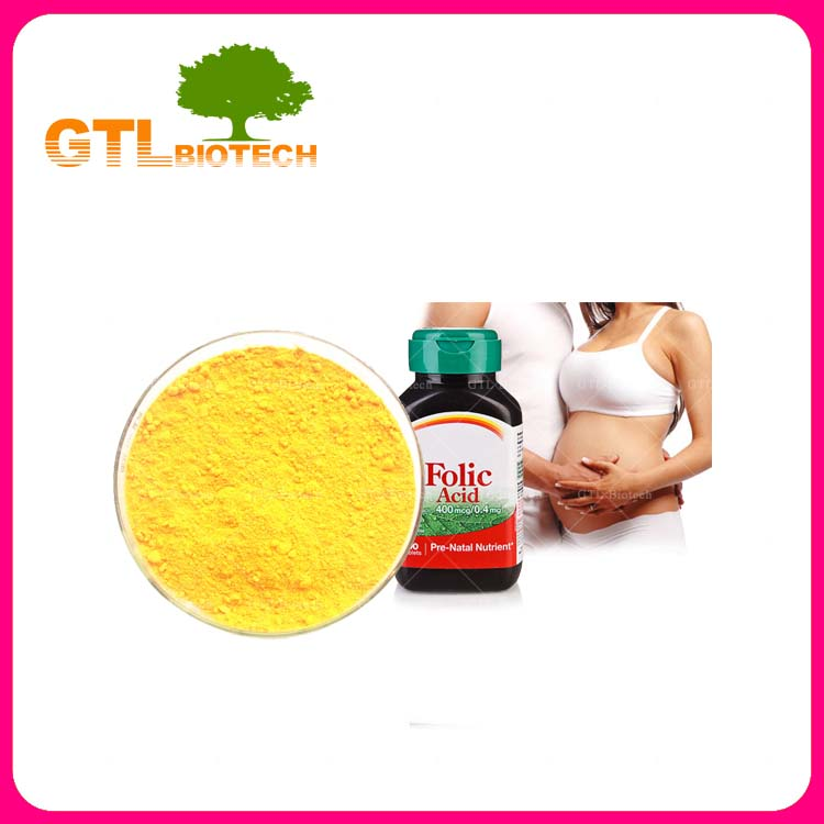 Manufacturer Supply Folic Acid Powder Vitamin B9 Raw Material