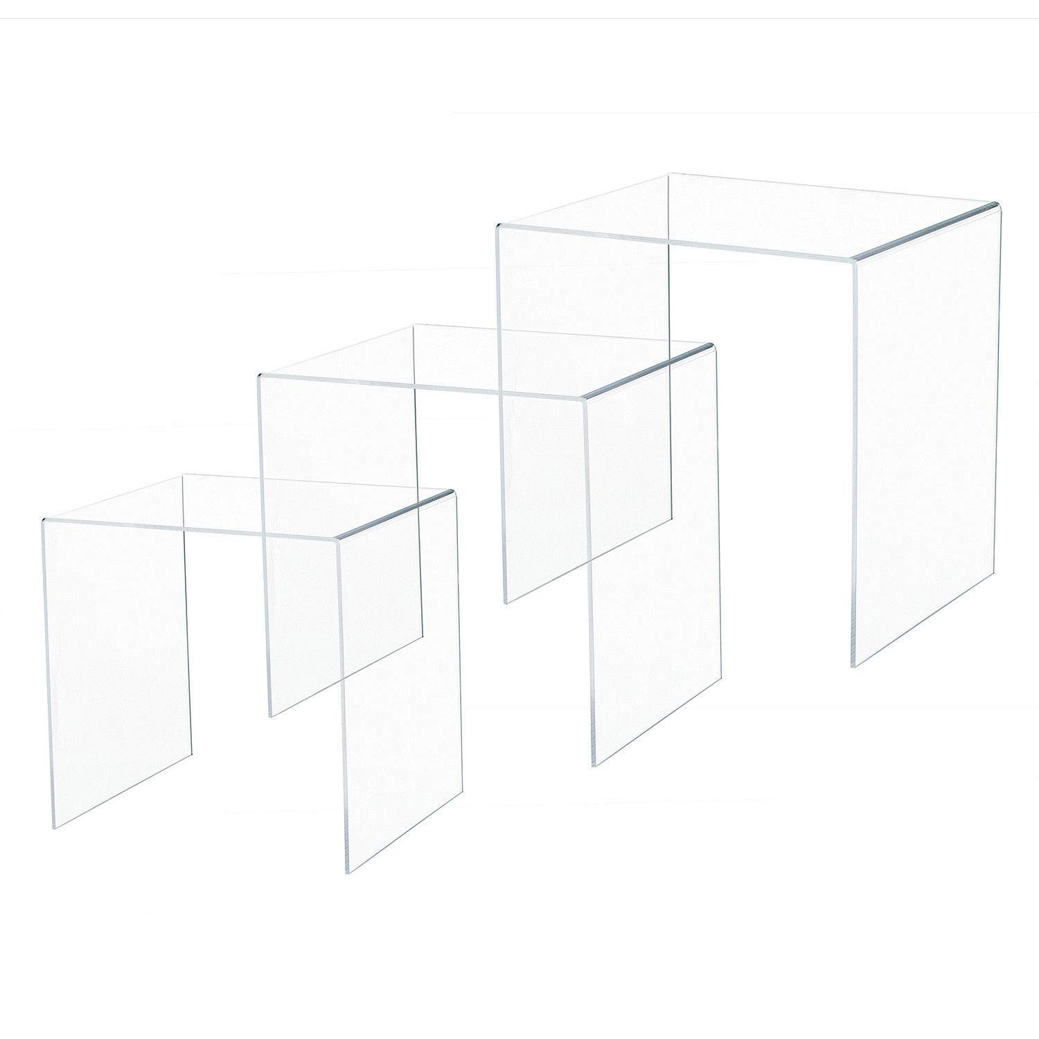 GJH One Acrylic Nesting End Table Modern Coffee Table Lucite Side Bedside Furniture 3pcs