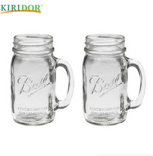 2018 Hot Selling mason jars with handles handle and straw wholesale for restaurant family on sale