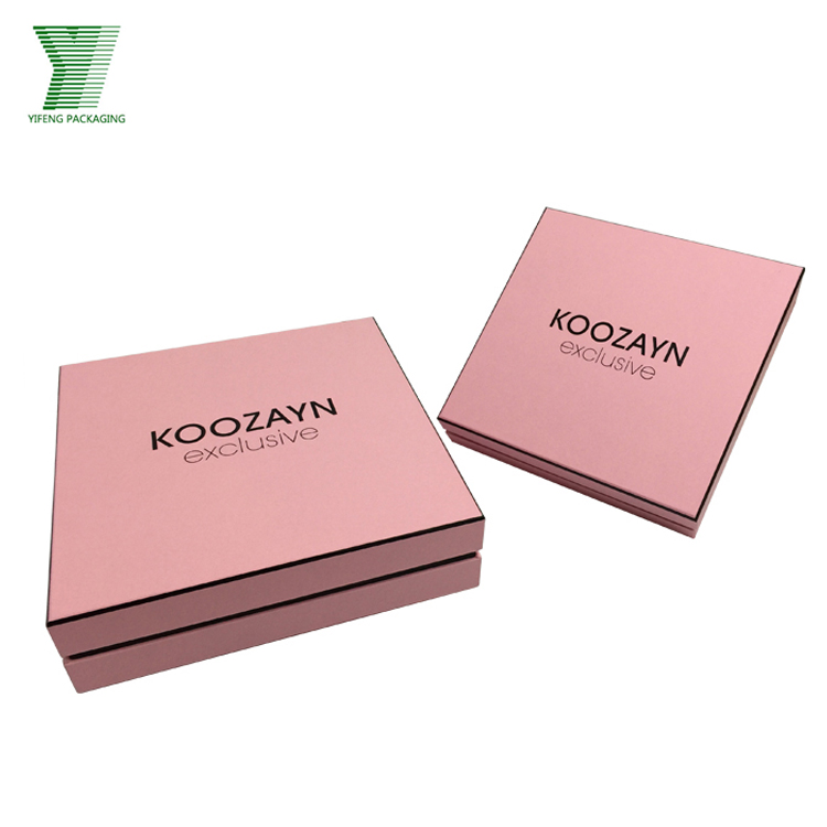 Pink fancy paper jewelry box customized wholesale jewelry packaging set