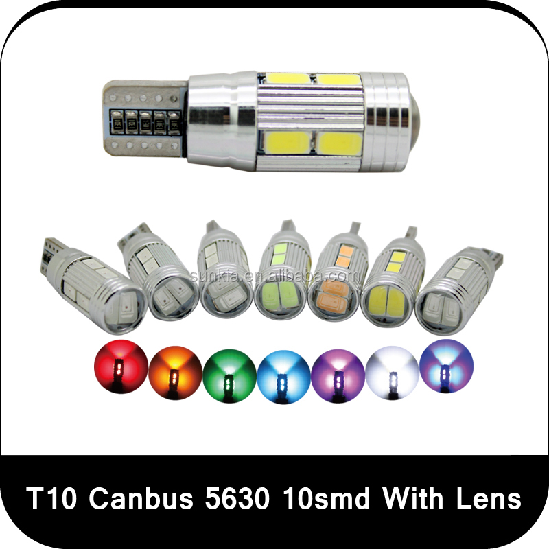Cheap super bright car t10 led w5w 194 auto lamp canbus 5630 10smd led lamp light