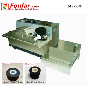 MY380F Single Color Color&Page letterpress Plate Type Synchronize Expiry Date Coding Machine Hot Ink Roller Printer