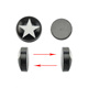 stainless steel magnetic ear studs,Fake Magnetic Nose Ear Lip Stud Non Piercing with Star