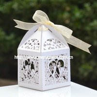 paper packaging for wedding event and party supply, laser cut candy box chocolate sweet personalized