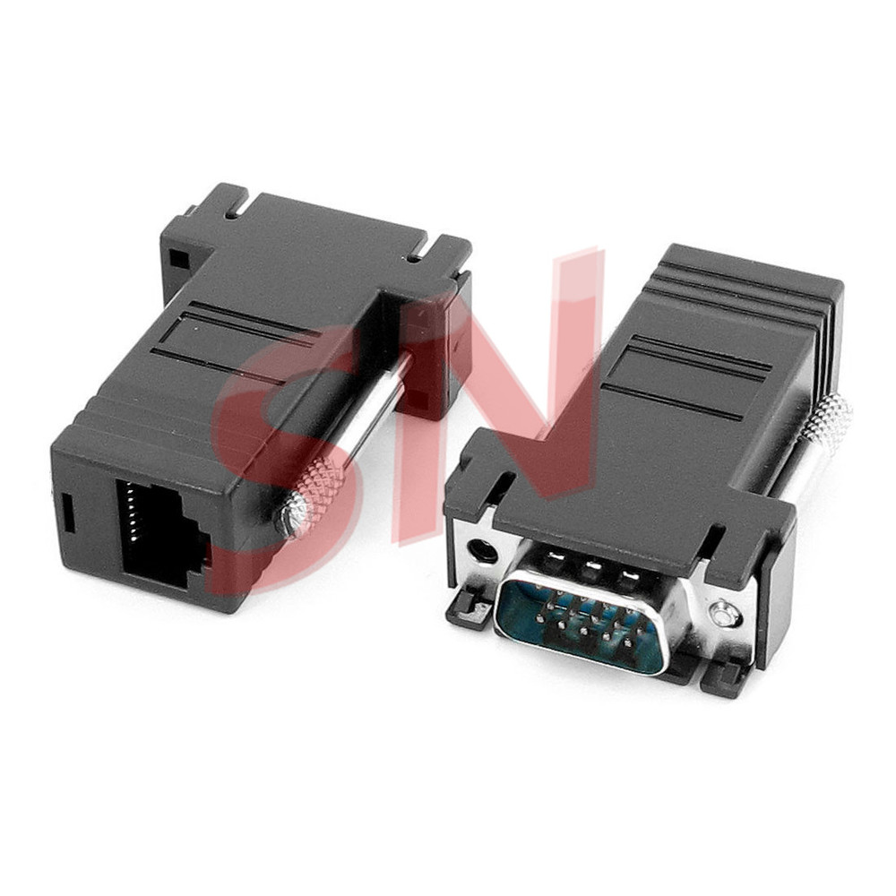 DB9 Pin assembly complete revolution RJ45 8P8C male female adapter DB9 M to RJ45 8P8C