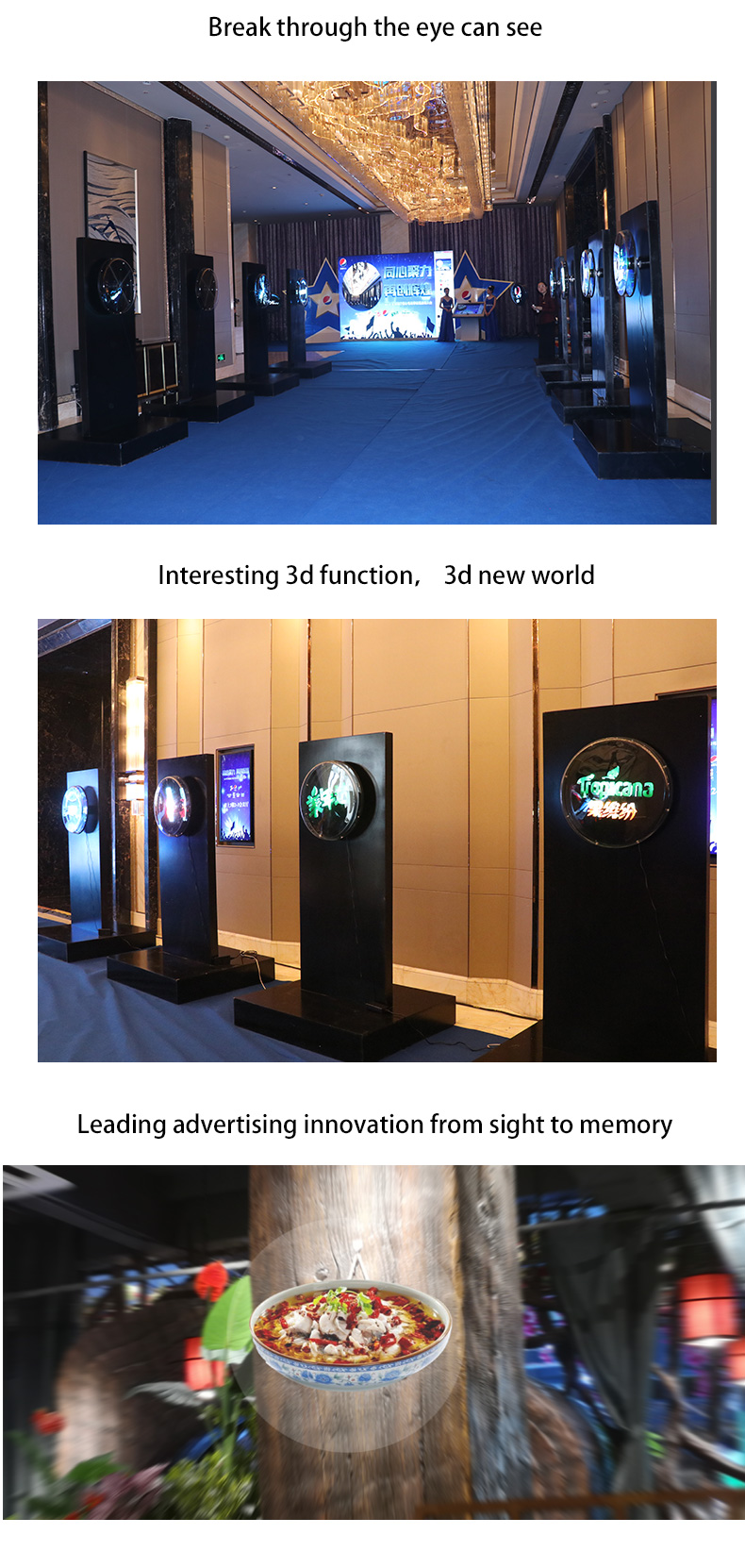 Reliable 42 CM WIFI Version Outdoor Fan Hologram For Holographic Display  3D Hologram Advertising Fan