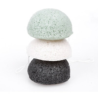100% pure natural luxury skin care private label organic face cleaning facial cosmetic sponge konjac