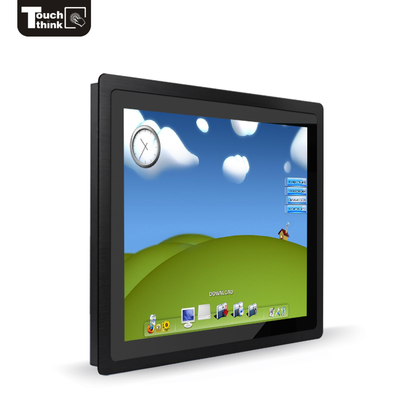 industrial 3mm bezel ultra thin monitor, wall mount touch screen monitors 19 21 22 inch