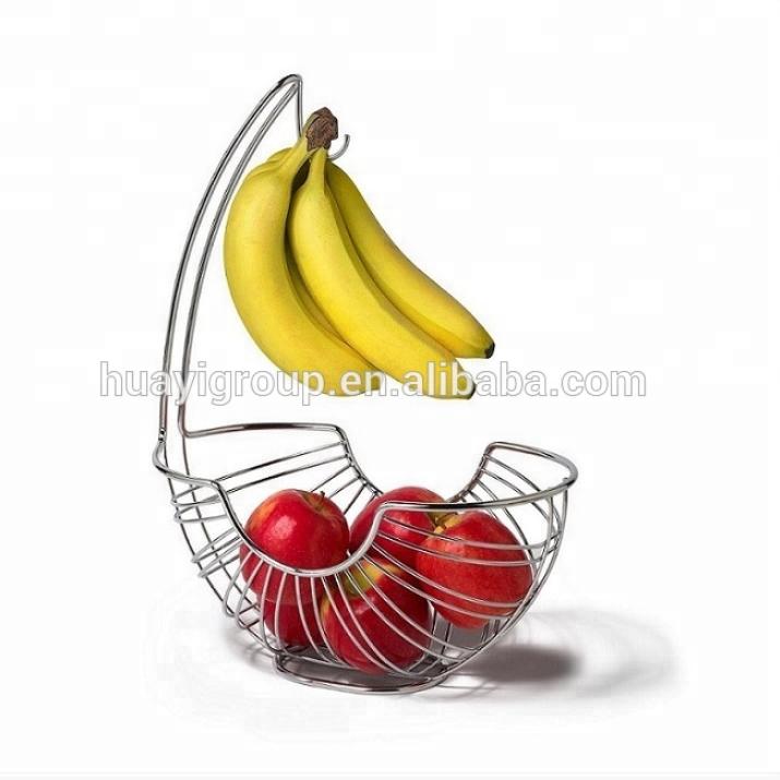 Hanging Fruit Basket Wire Bowl Bin Kitchen Apple Banana Protector Food  Storage - Buy Fruit Basket,Hanging Wire Fruit Basket,Kitchen Wire Basket ...