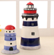 Custom ceramic lighthouse shape office decoration home decoration pieces