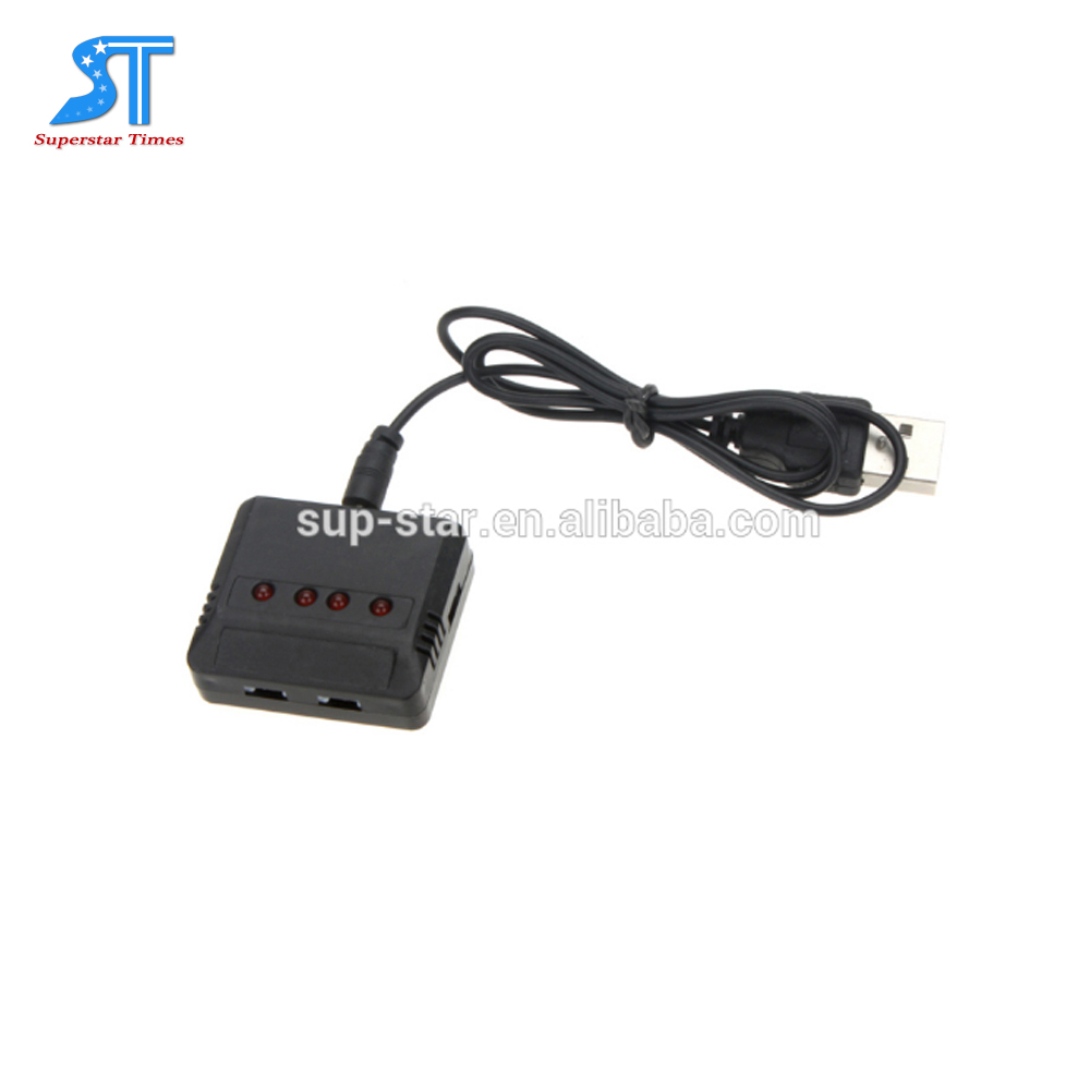 4 in 1 4Ports Lipo Battery USB Charger Adapter for JXD 385//388//392 RC Drone