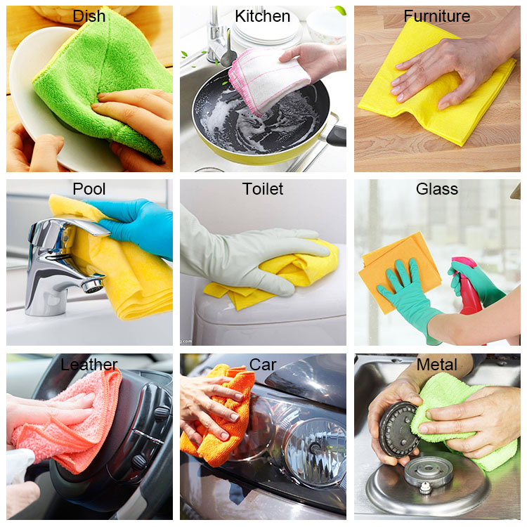NO.A1001 wholesale polyester material mini cleaning cloth for kitchen