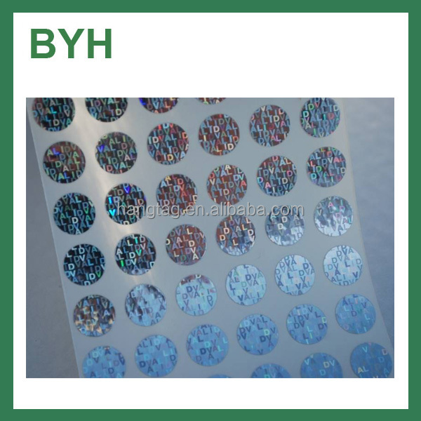 Self Adhesive Security Hologram Labels And Stickers