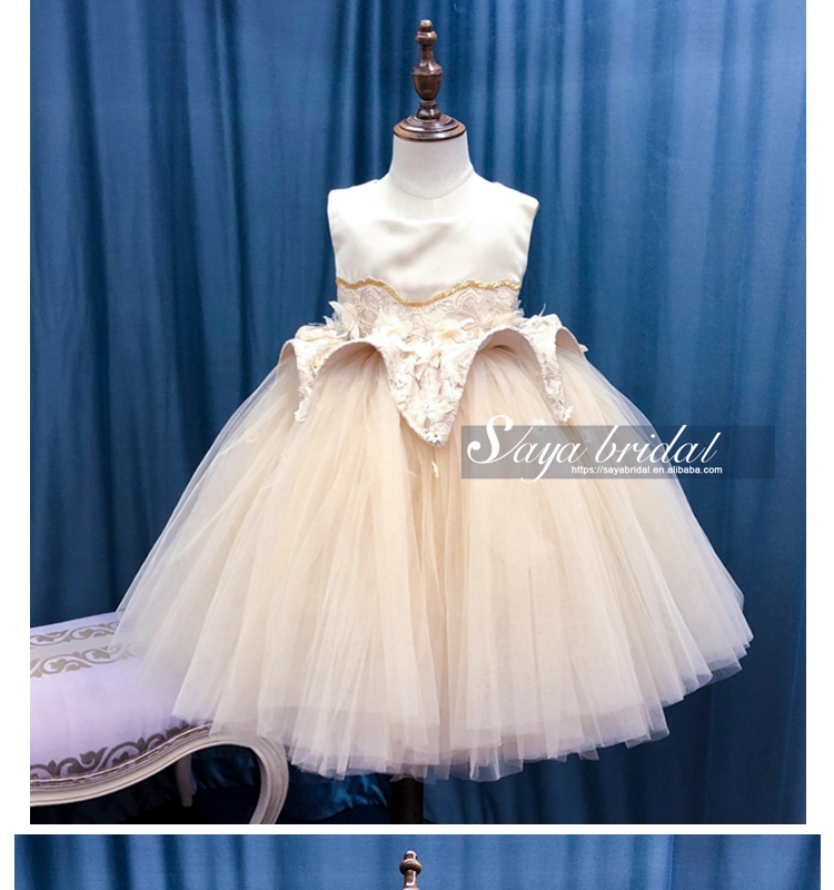 Princess flower baby girl wedding birthday party dress
