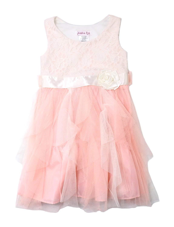 599c95c11105 Get Quotations · Jessica Ann Girls Size 5 Sleeveless Dress