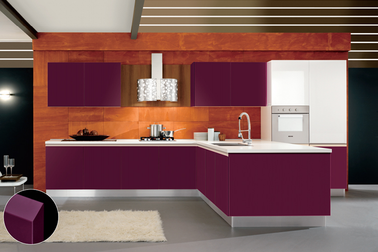 Zhihua design customized high quality fashionable pvc kitchen cabinet solid wood