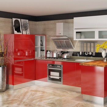 red gloss kitchen cabinets oppein high gloss modular lacquer mdf kitchen cabinets 25172