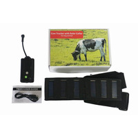Solar powered 5000mAh battery big animal cow gps with collar