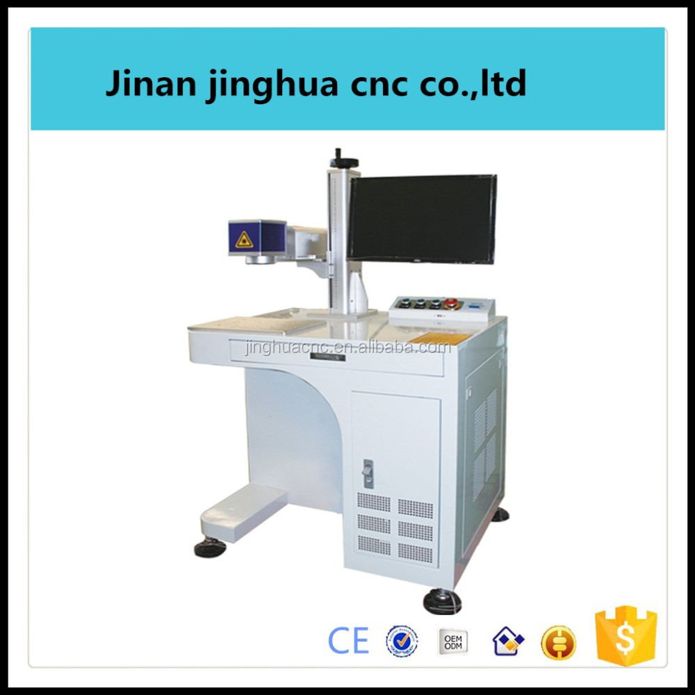 30w plastic bottle / Wood / cloth / cable laser marking machines for production line