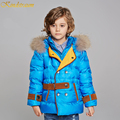 Kindstraum 2016 New Fashion Kids Hooded Duck Down Coat For Boys Parka Outwear England Style Jacket