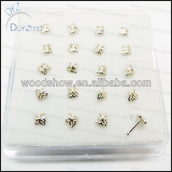 Butterfly Gold Nose Pin Silver Buy Nose Pin Silver Nose Ring