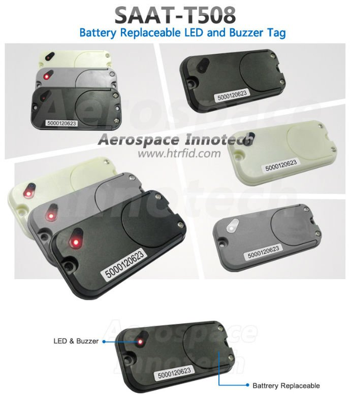 Battery Replaceable 2.45G Active RFID Tag SAAT-T508