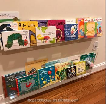 Wall Mounted Acrylic Bookshelf Kids Floating Shelf