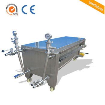 Leader Plate And Frame Filter Press / Grape Wine Filter Machine ...