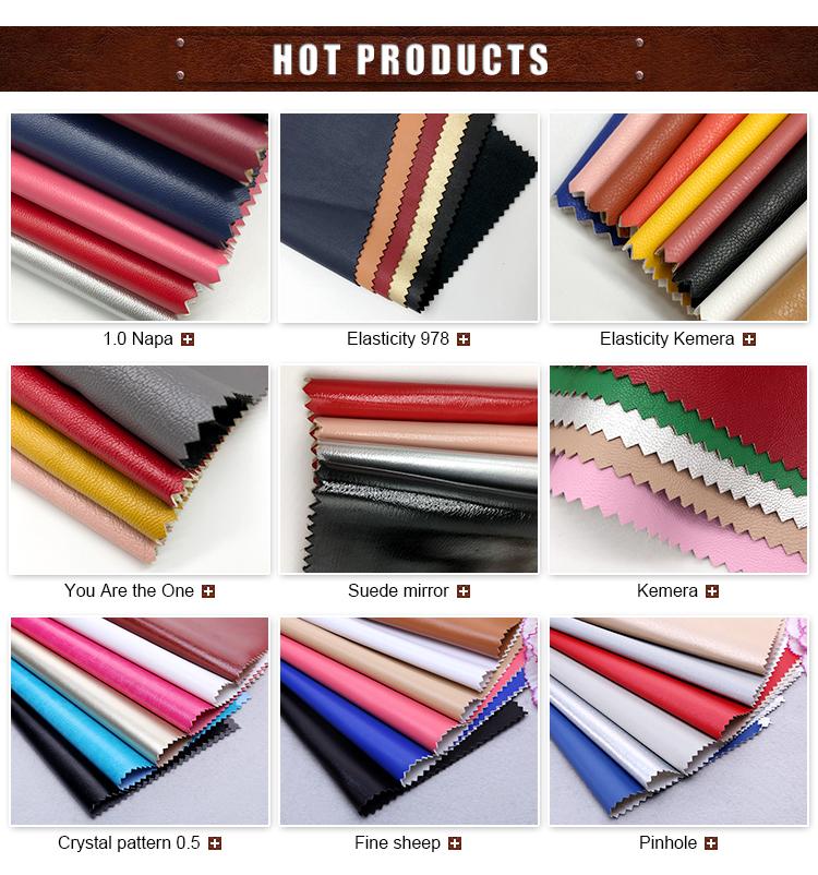 Fabricante de couro sintético de alta qualidade de vestuário de tecido de couro pu