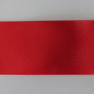 hot red single face 6 inch satin ribbon with design
