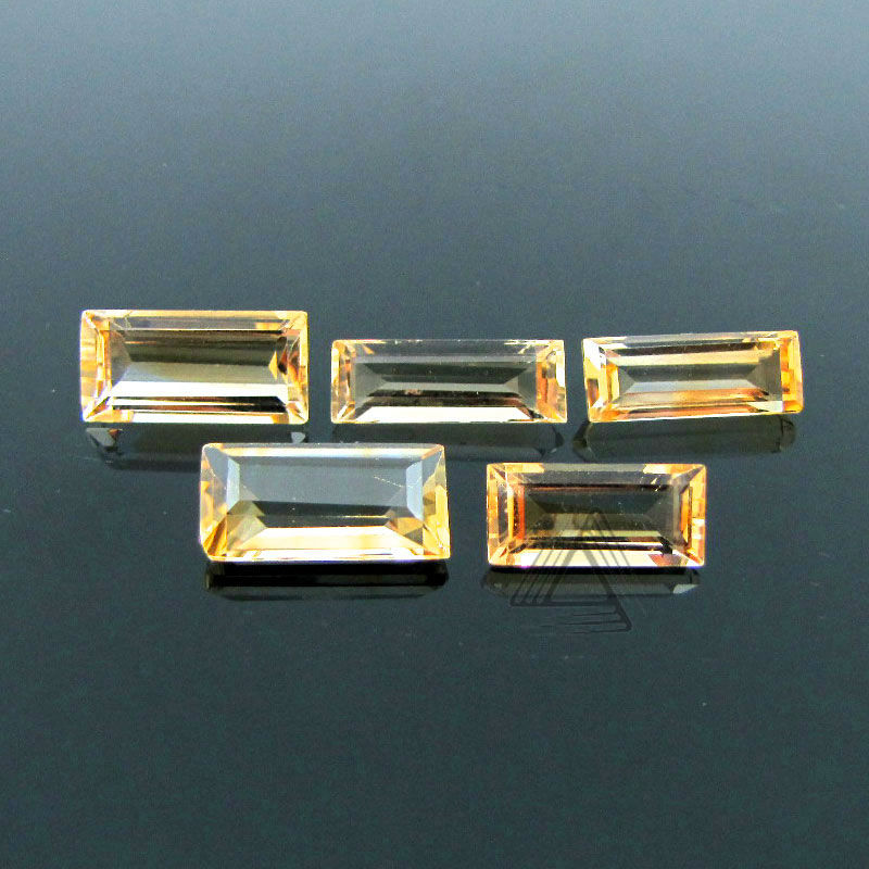 Citrine Baguette Wholesale loose Gemstone , Citrine Cut stones