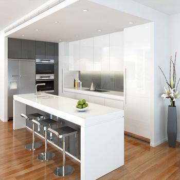Moderno Gabinete De Cocina Color Blanco Laca Muebles De Cocina ...
