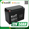 Bluesun good price 12v 50ah 55ah gel deep cycle lead acid battery