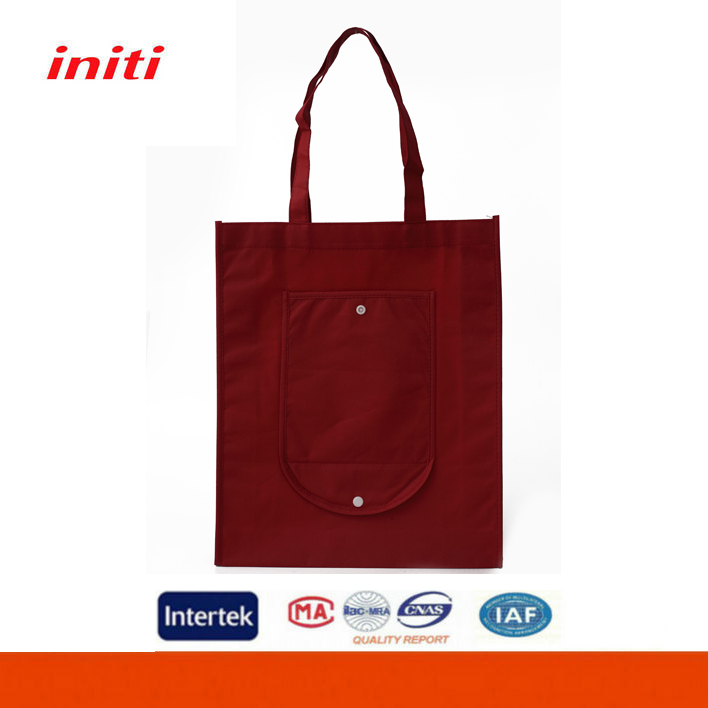 INITI Promotional Various Sizes Foldable Trolley Shopping Bag WIth Front Pocket